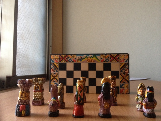 The Spaniards versus the Inca (chess set)