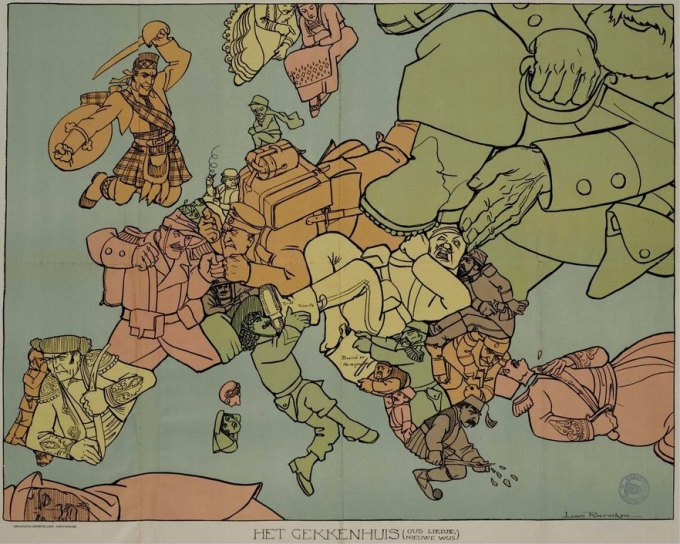 Dutch map of Europe early 19th century